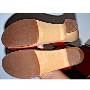 98f70e1a2d59 Swedish Hasbeens Shoes - Swedish Hasbeens Heart Wooden Platform Sandal 9 40